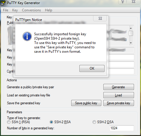 putty ssh private key id_rsa